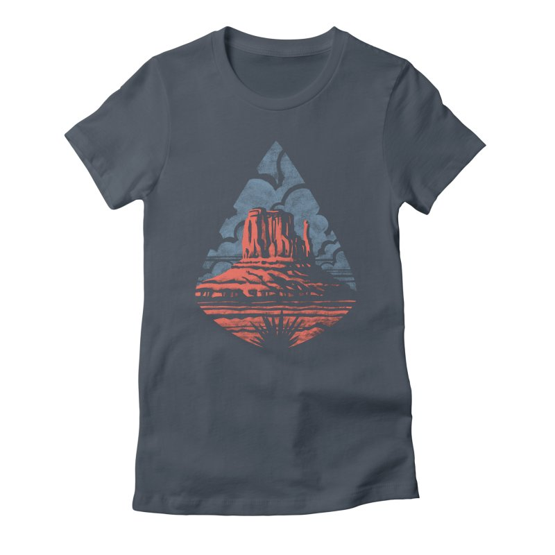 Monument Valley Women's Fitted T-Shirt by Waynem