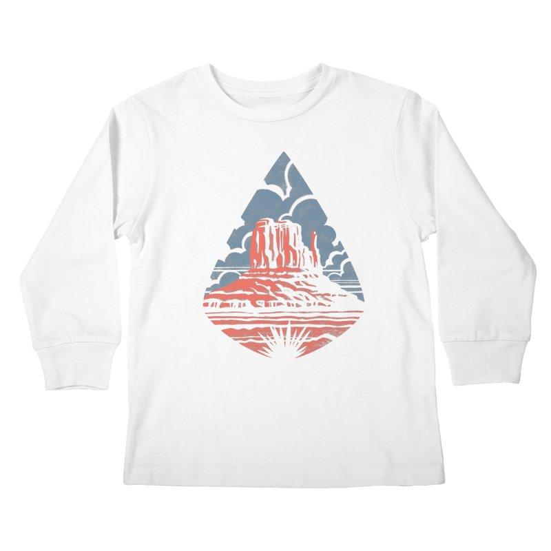 Monument Valley Kids Longsleeve T-Shirt by Waynem