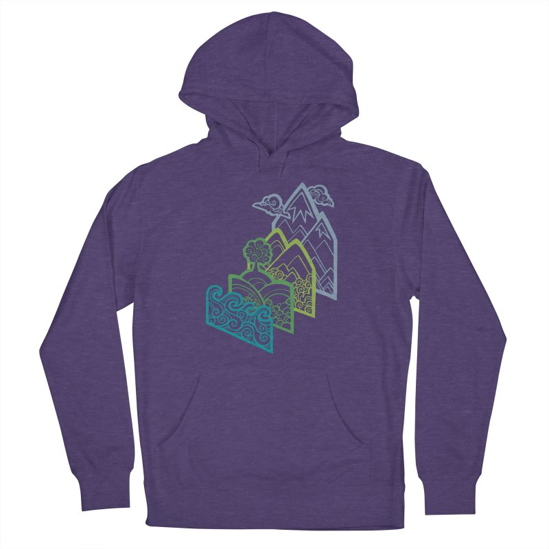 How to Build a Landscape (outline) Women's Pullover Hoody by Waynem