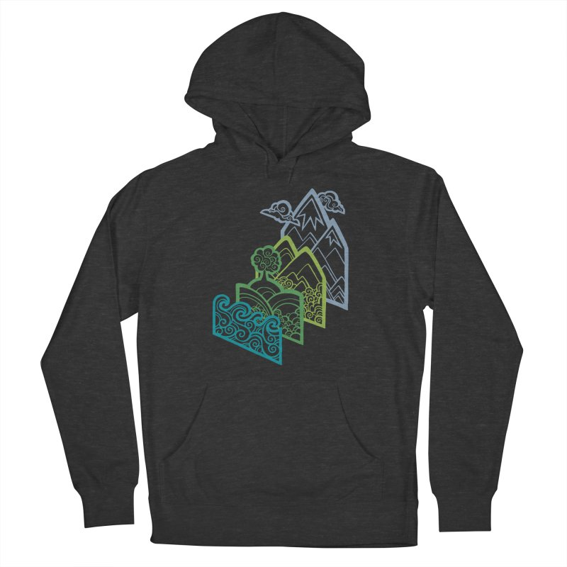 How to Build a Landscape (outline) Men's Pullover Hoody by Waynem