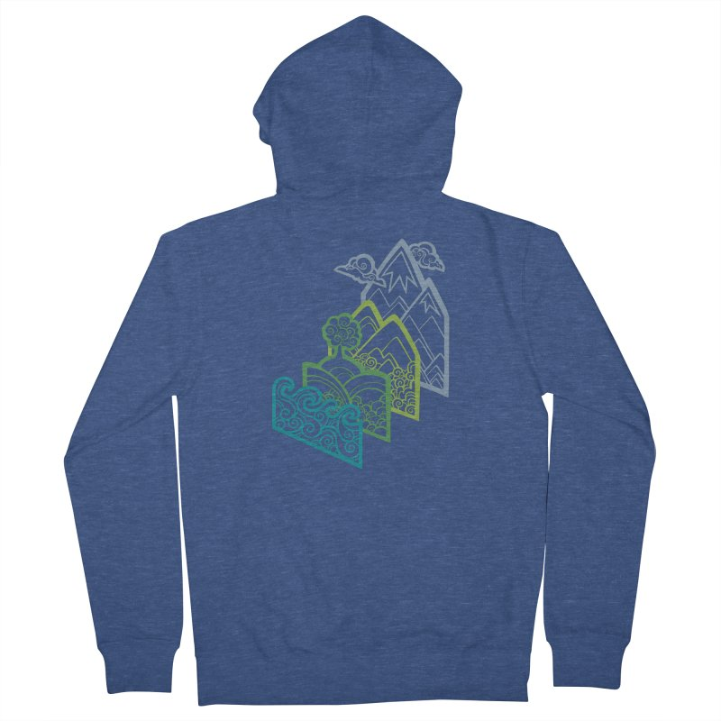 How to Build a Landscape (outline) Women's Zip-Up Hoody by Waynem