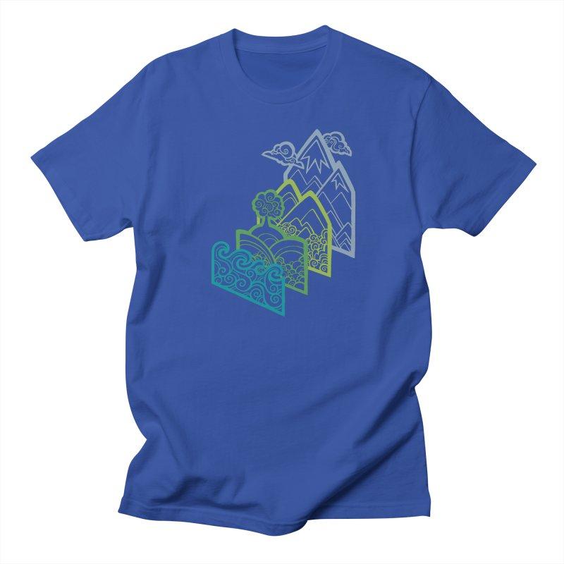 How to Build a Landscape (outline) Men's T-Shirt by Waynem
