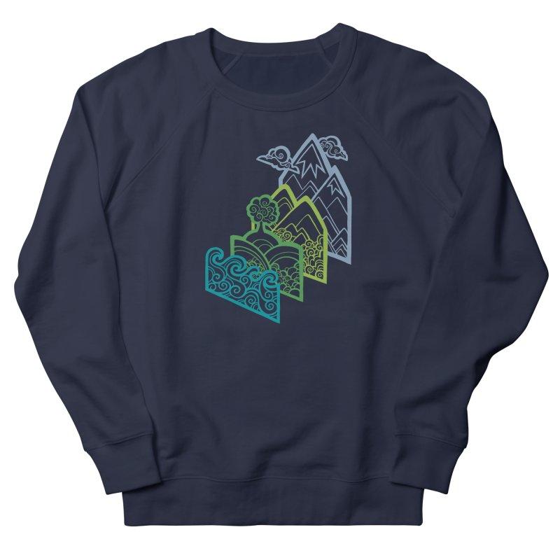 How to Build a Landscape (outline) Men's Sweatshirt by Waynem