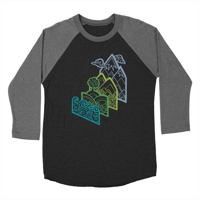 How to Build a Landscape (outline) Women's Baseball Triblend T-Shirt by Waynem