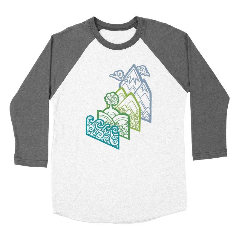 How to Build a Landscape (outline) Men's Baseball Triblend T-Shirt by Waynem