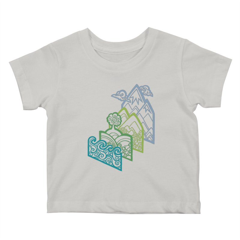 How to Build a Landscape (outline) Kids Baby T-Shirt by Waynem