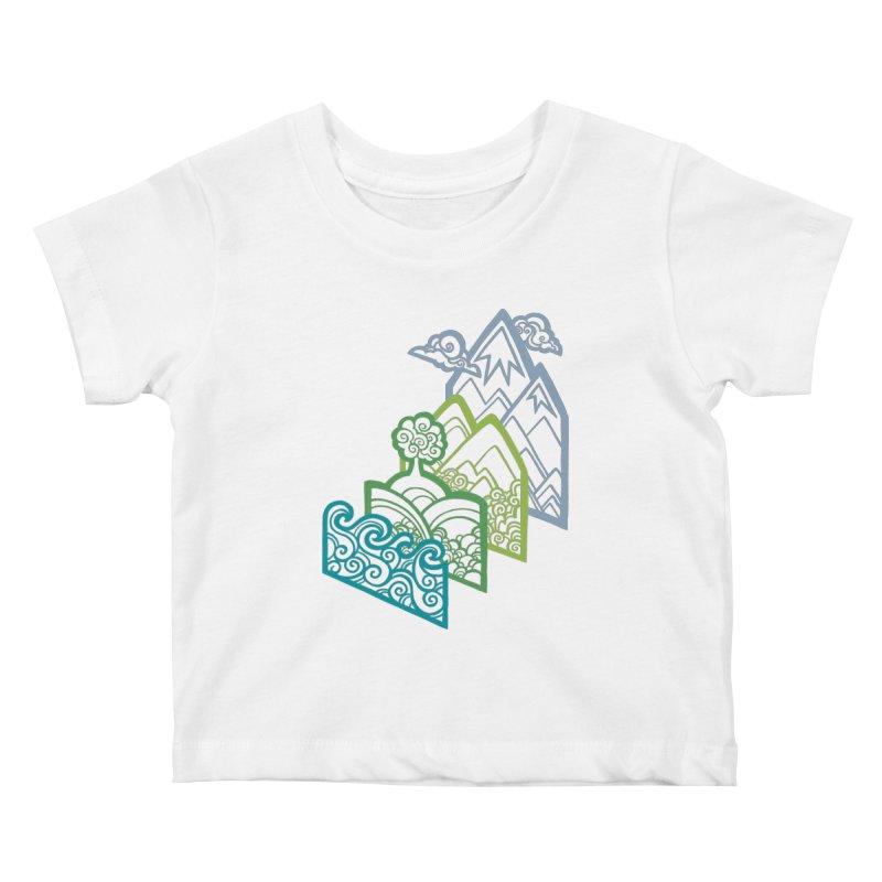 How to Build a Landscape (outline) Kids Baby T-Shirt by Waynem