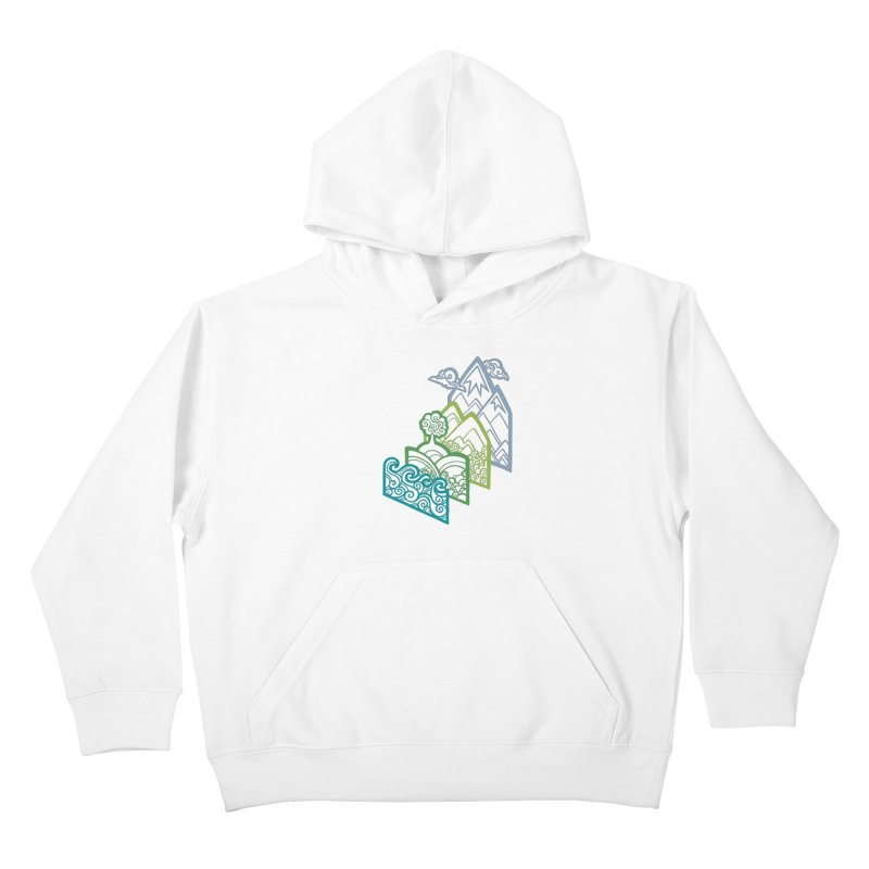 How to Build a Landscape (outline) Kids Pullover Hoody by Waynem