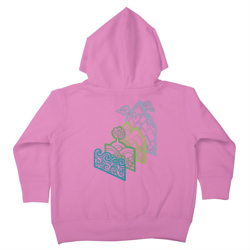 How to Build a Landscape (outline) Kids Toddler Zip-Up Hoody by Waynem