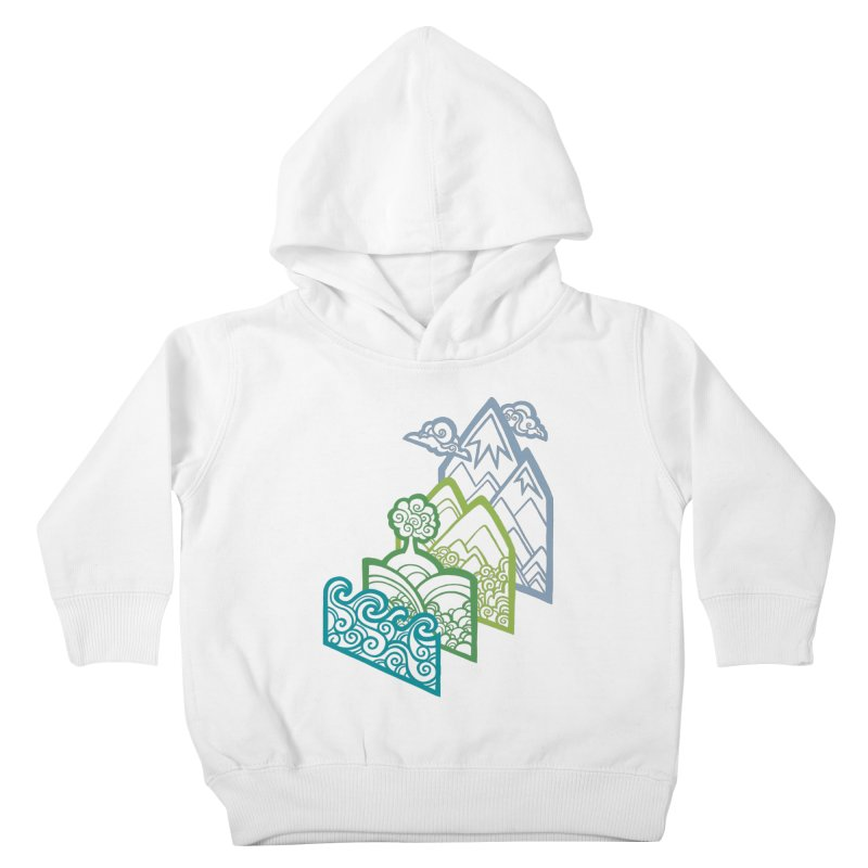 How to Build a Landscape (outline) Kids Toddler Pullover Hoody by Waynem