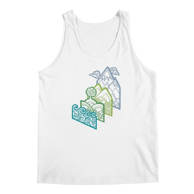 How to Build a Landscape (outline) Men's Tank by Waynem