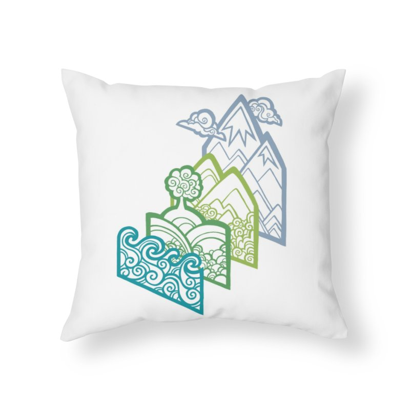 How to Build a Landscape (outline) Home Throw Pillow by Waynem