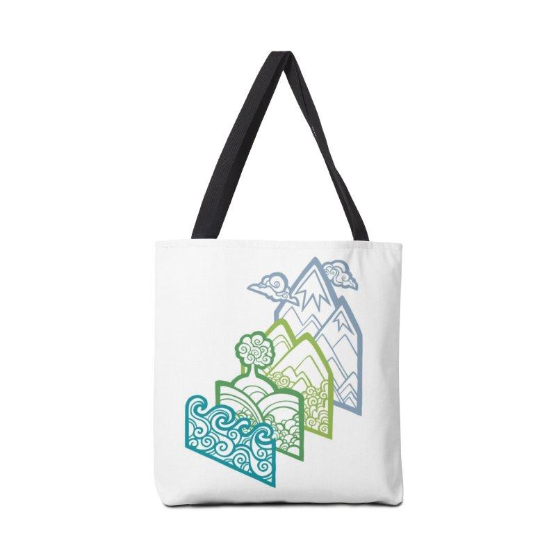 How to Build a Landscape (outline) Accessories Bag by Waynem