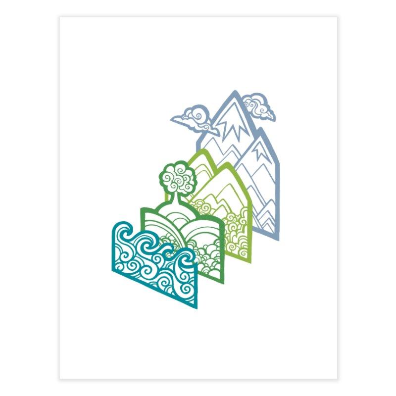 How to Build a Landscape (outline) Home Fine Art Print by Waynem