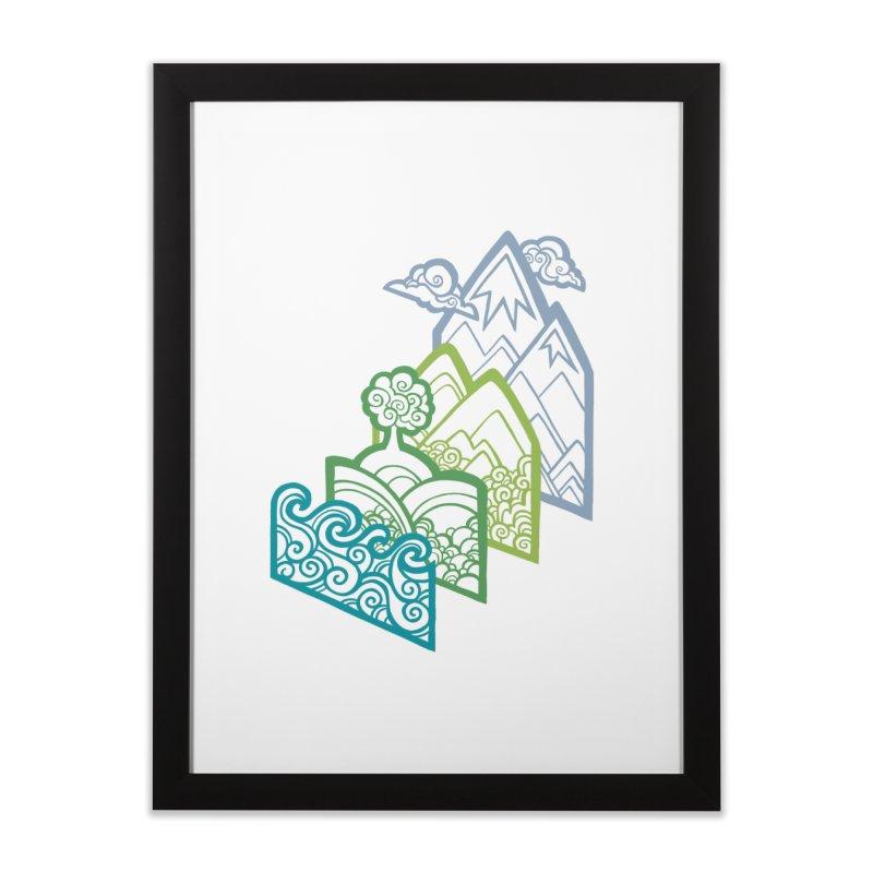 How to Build a Landscape (outline) Home Framed Fine Art Print by Waynem