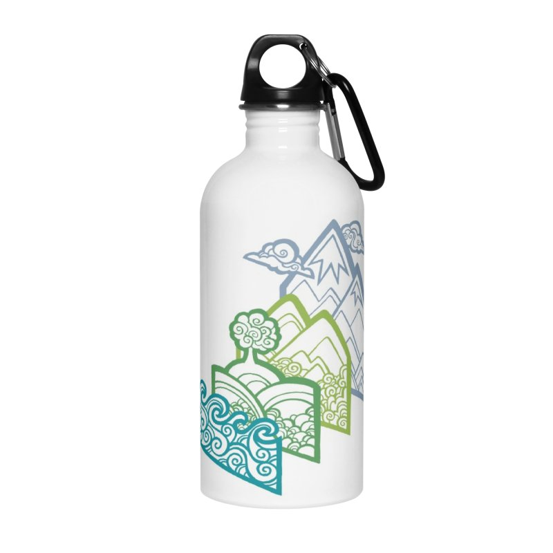 How to Build a Landscape (outline) Accessories Water Bottle by Waynem
