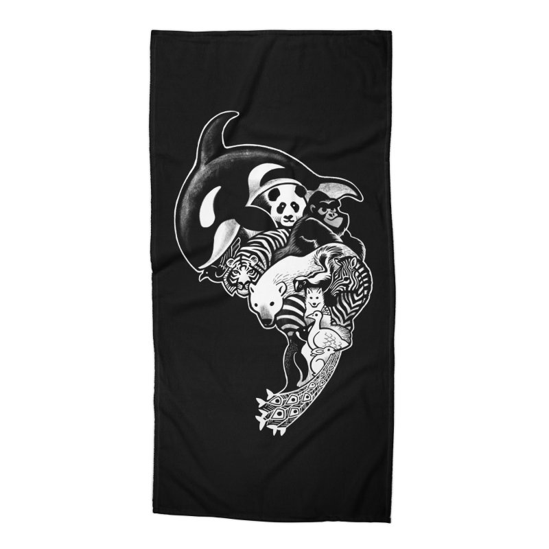 Monochromanimal (reverse) Accessories Beach Towel by Waynem