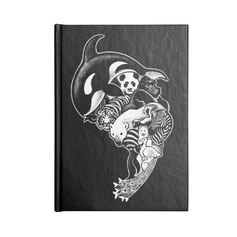 Monochromanimal (reverse) Accessories Notebook by Waynem