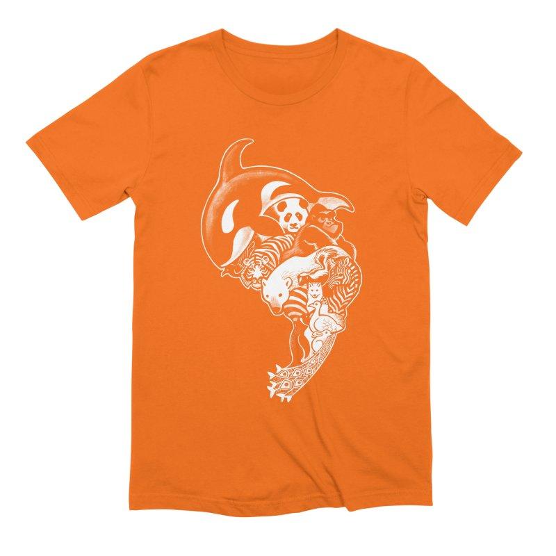 Monochromanimal (reverse) Men's Extra Soft T-Shirt by Waynem