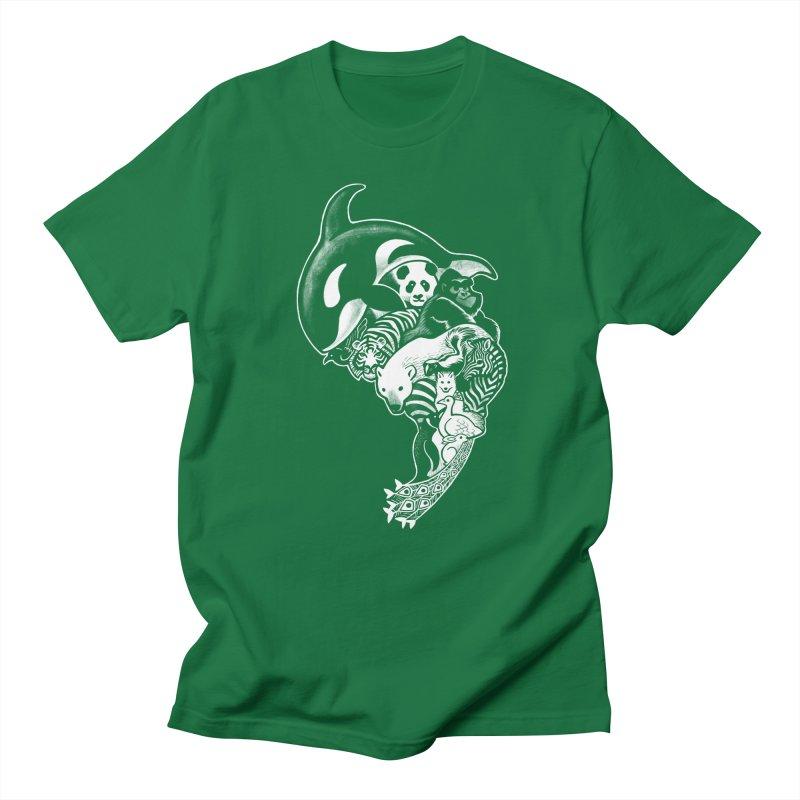 Monochromanimal (reverse) Men's T-Shirt by Waynem