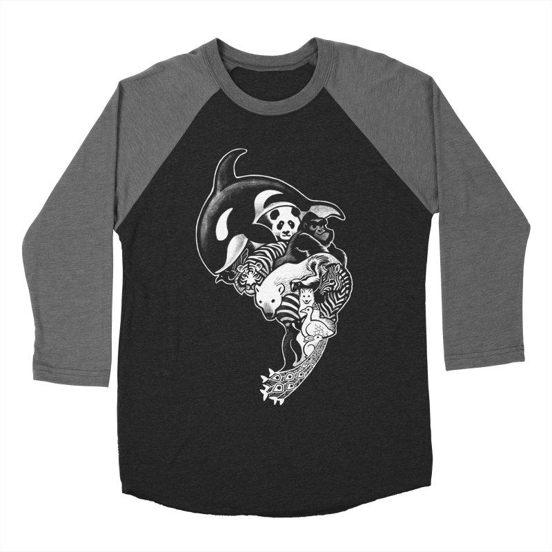 Monochromanimal (reverse) Women's Baseball Triblend T-Shirt by Waynem