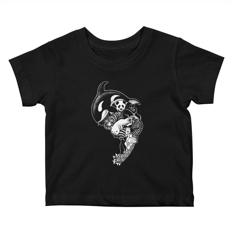 Monochromanimal (reverse) Kids Baby T-Shirt by Waynem