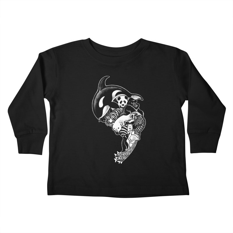 Monochromanimal (reverse) Kids Toddler Longsleeve T-Shirt by Waynem