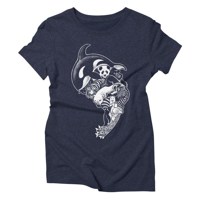 Monochromanimal (reverse) Women's Triblend T-Shirt by Waynem