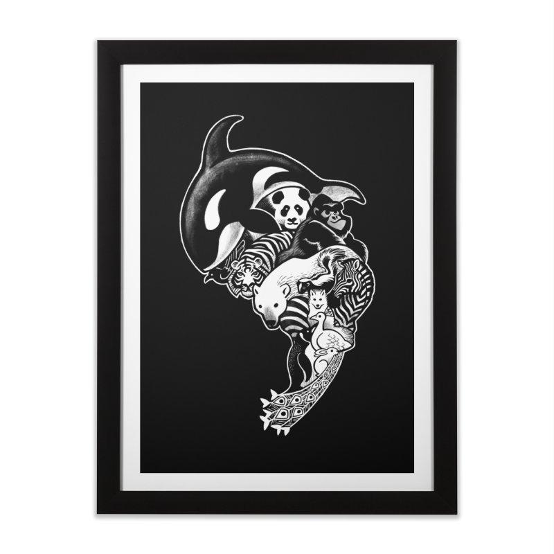 Monochromanimal (reverse) Home Framed Fine Art Print by Waynem