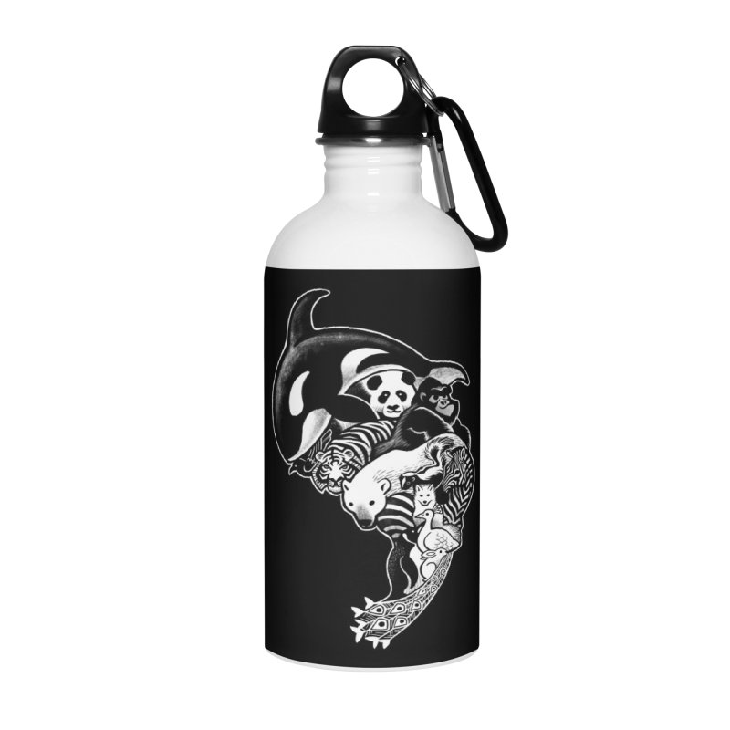 Monochromanimal (reverse) Accessories Water Bottle by Waynem