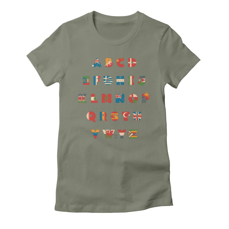 The Alflaget 3 Women's Fitted T-Shirt by Waynem
