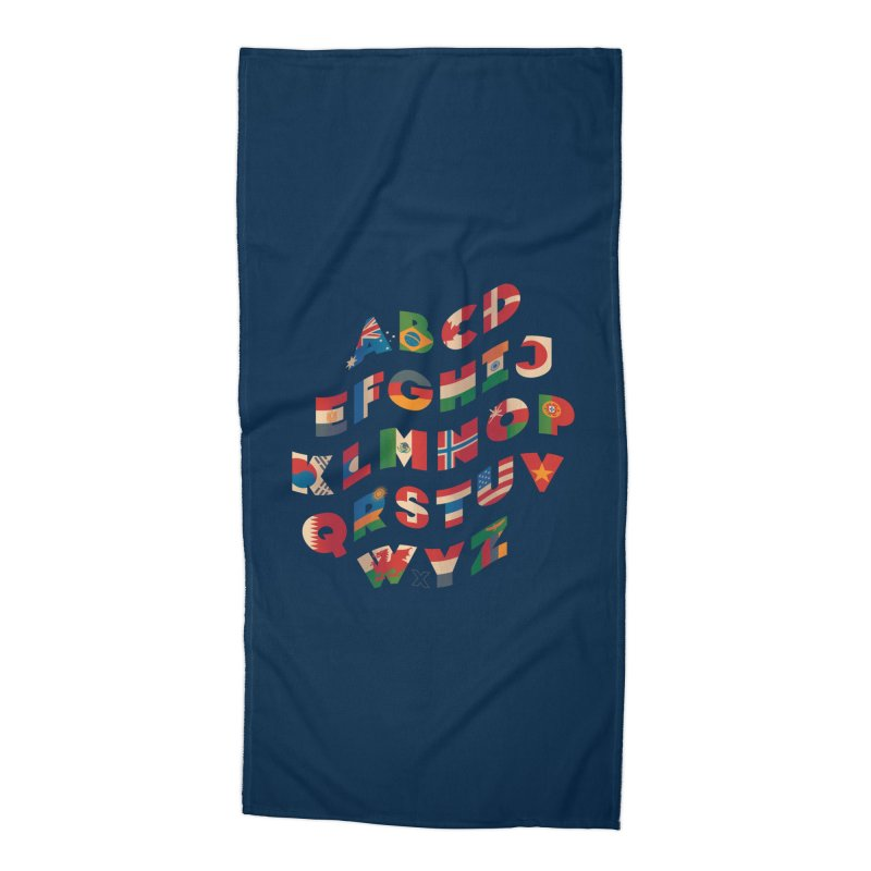 The Alflaget - Wavy Accessories Beach Towel by Waynem