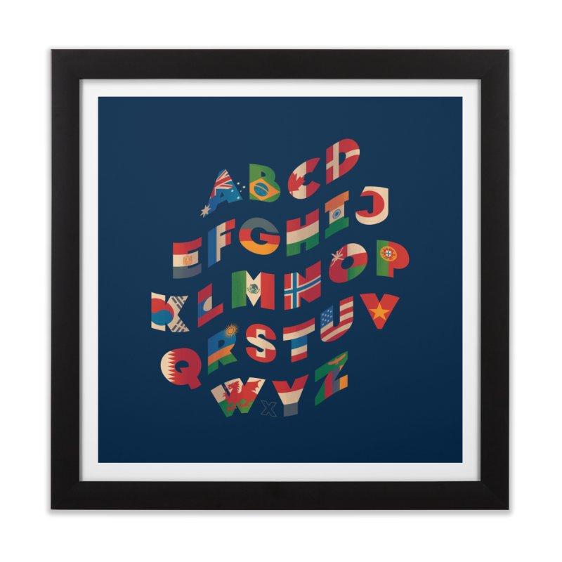 The Alflaget - Wavy Home Framed Fine Art Print by Waynem
