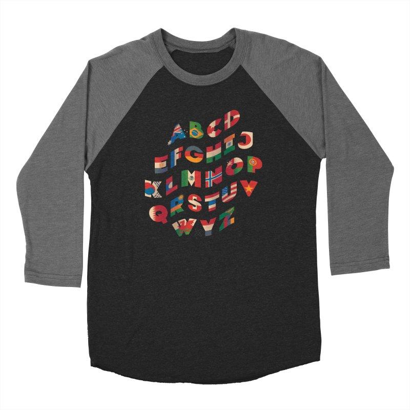 The Alflaget - Wavy Men's Baseball Triblend T-Shirt by Waynem