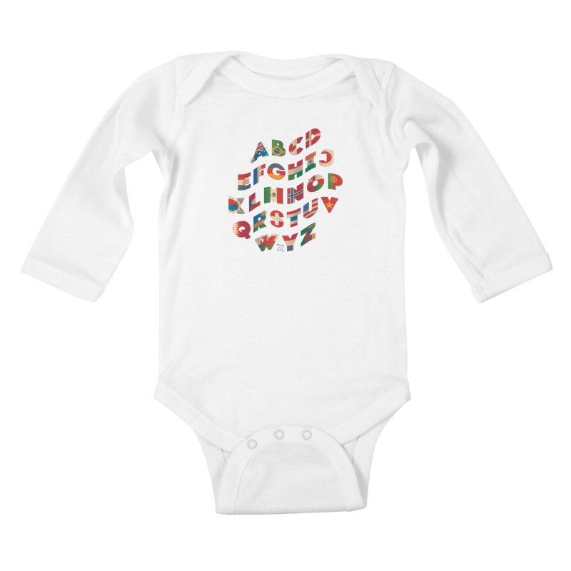 The Alflaget - Wavy Kids Baby Longsleeve Bodysuit by Waynem