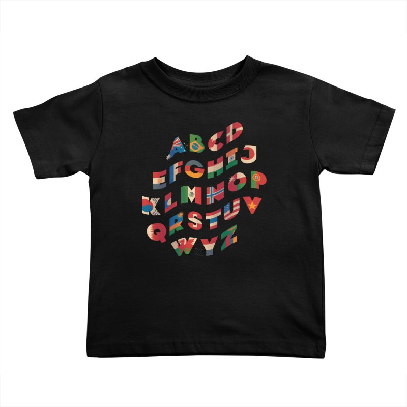 The Alflaget - Wavy Kids Toddler T-Shirt by Waynem