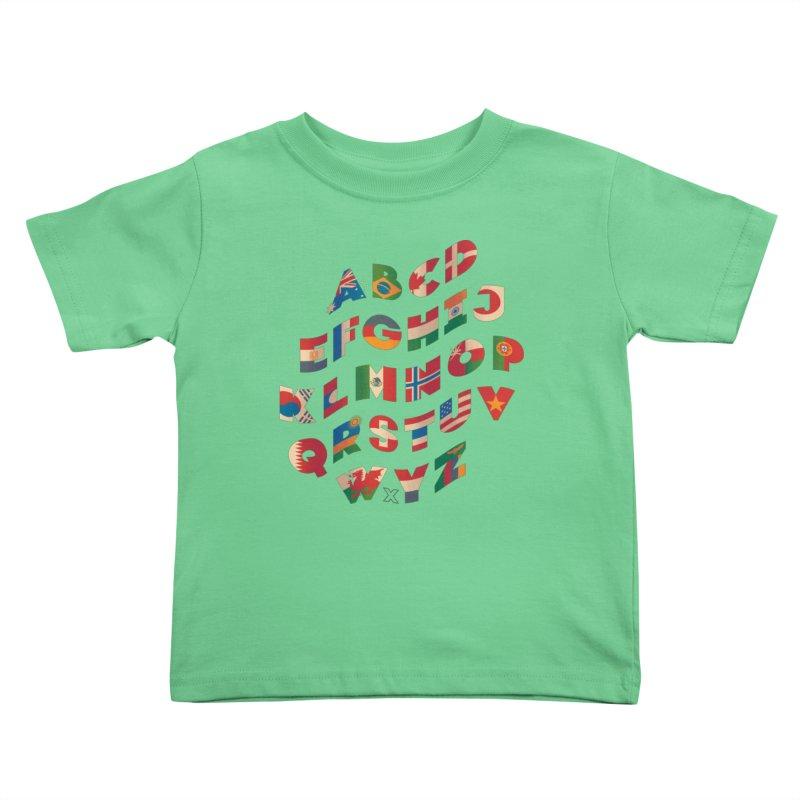 The Alflaget - Wavy Kids Toddler T-Shirt by Waynem