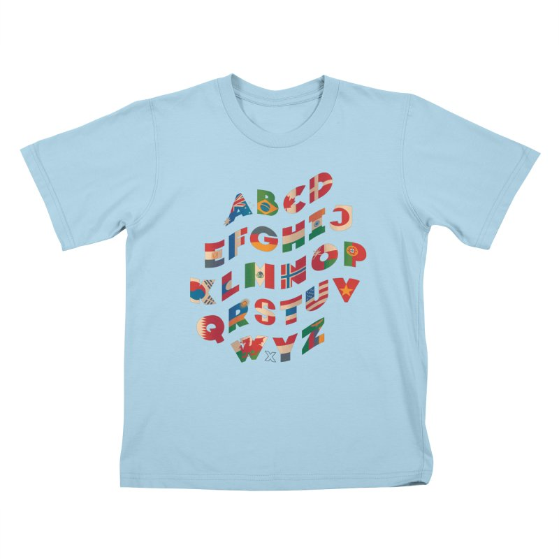 The Alflaget - Wavy Kids T-Shirt by Waynem