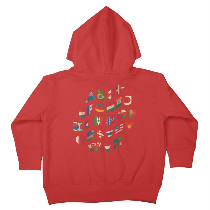 The Alflaget - Wavy Kids Toddler Zip-Up Hoody by Waynem
