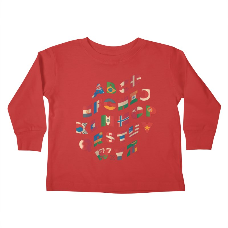 The Alflaget - Wavy Kids Toddler Longsleeve T-Shirt by Waynem