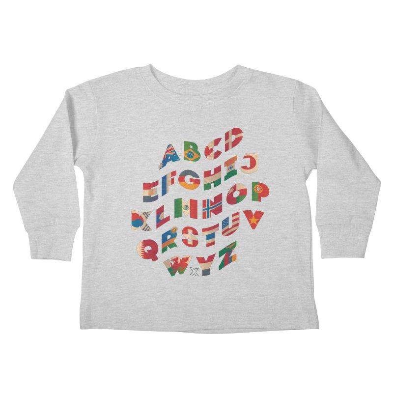 The Alflaget - Wavy Kids Toddler Longsleeve T-Shirt by Waynem