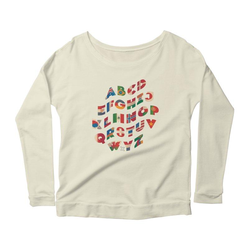 The Alflaget - Wavy Women's Scoop Neck Longsleeve T-Shirt by Waynem