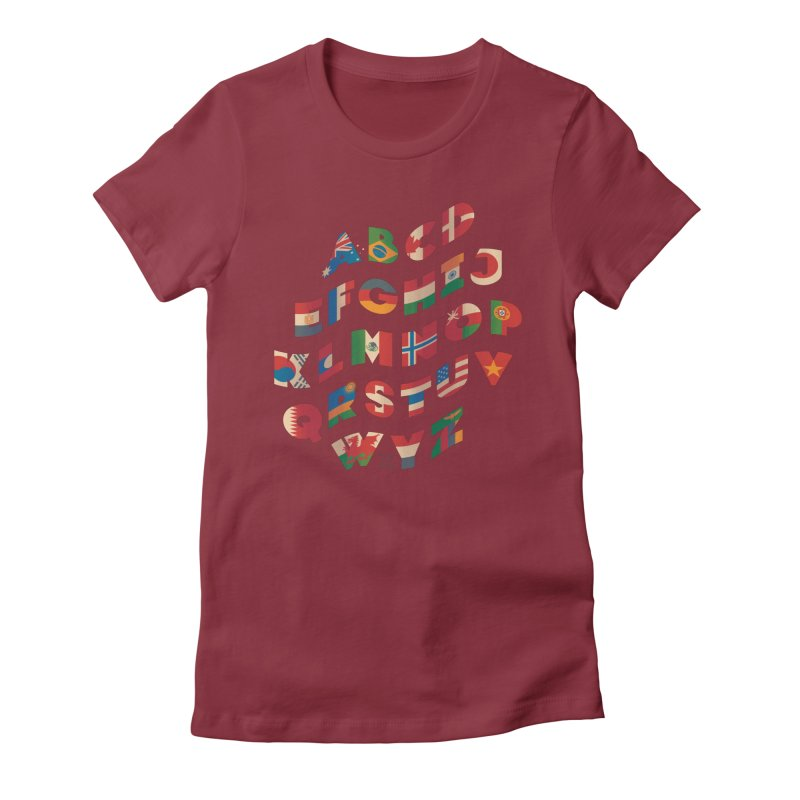 The Alflaget - Wavy Women's Fitted T-Shirt by Waynem