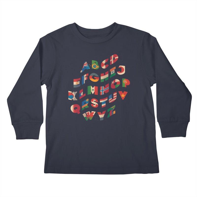 The Alflaget - Wavy Kids Longsleeve T-Shirt by Waynem