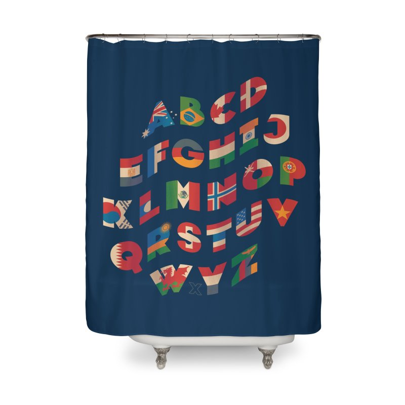 The Alflaget - Wavy Home Shower Curtain by Waynem