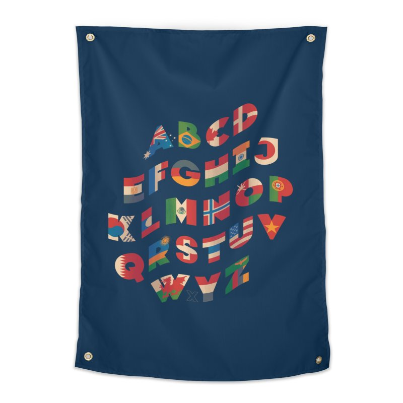 The Alflaget - Wavy Home Tapestry by Waynem