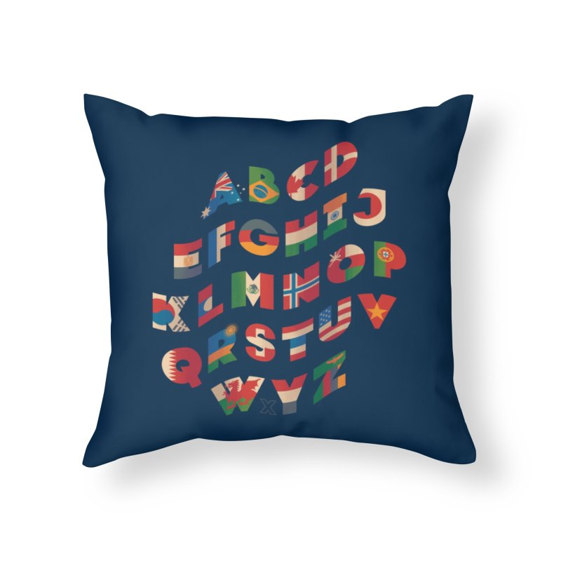The Alflaget - Wavy Home Throw Pillow by Waynem