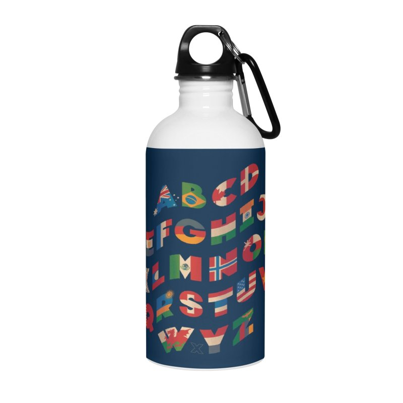 The Alflaget - Wavy Accessories Water Bottle by Waynem