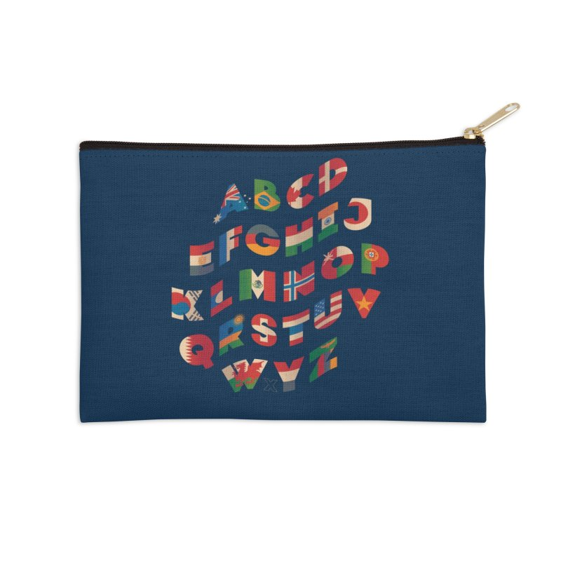 The Alflaget - Wavy Accessories Zip Pouch by Waynem