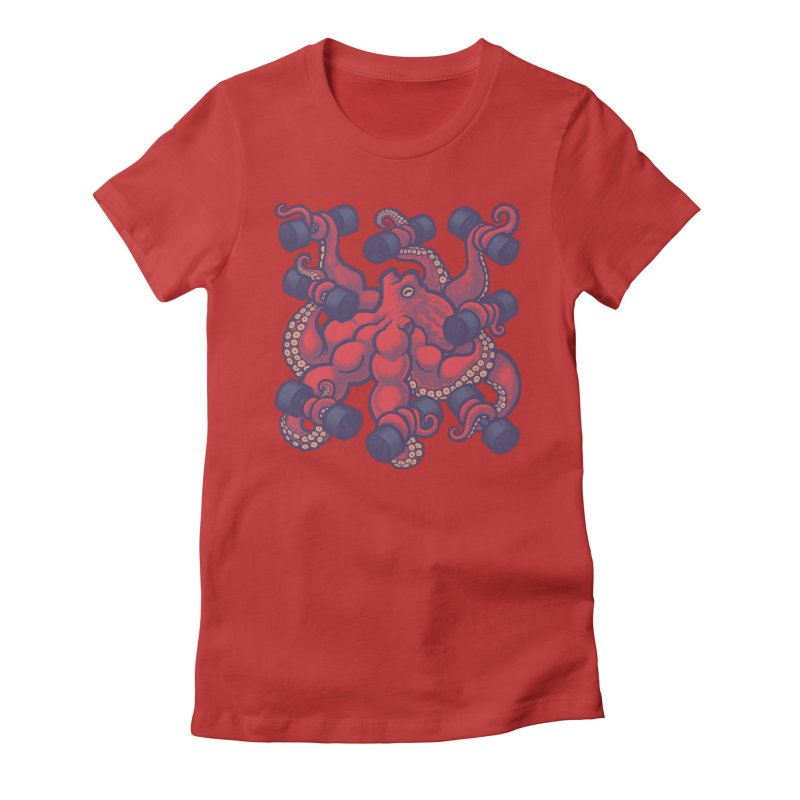 Tentacurls new Women's Fitted T-Shirt by Waynem